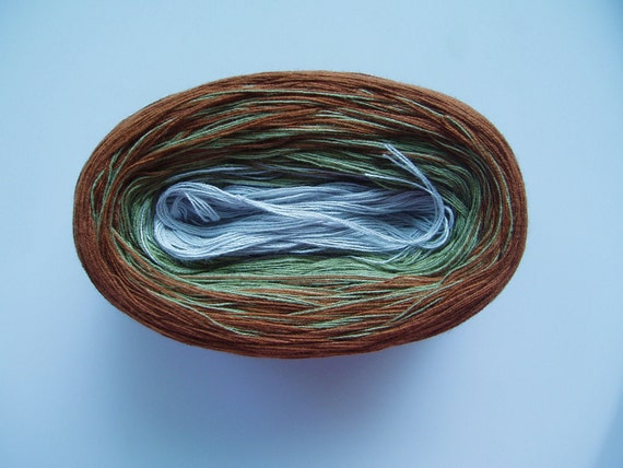 PATINA -Mega Skein-  Color Changing Cotton yarn  860 yards/180 gr  Fingering Weight