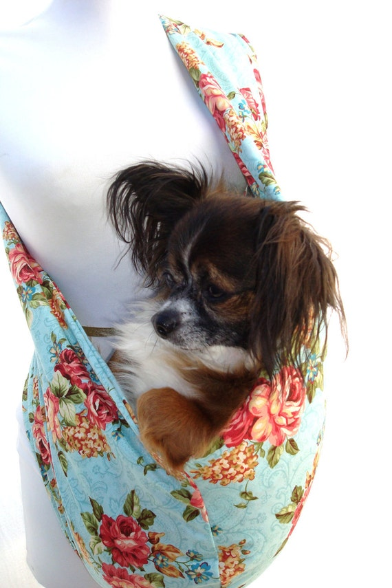 Custom order for connie-purchase only if connie.  Pet Sling Carrier-Floral Multi Color-Pocket avaialable upon Request