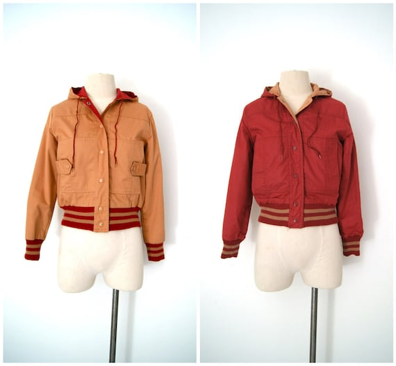 vintage 1980's Reversible Varsity jacket windbreaker