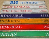 Big Ten Stadiums -- B1G Houses -- College Football Stadiums wood sign