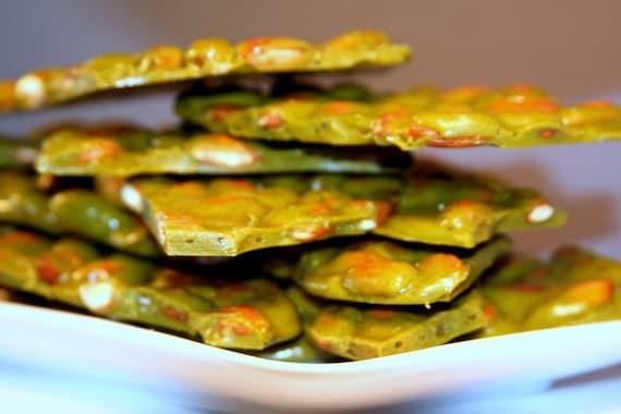 green tea almond brittle - 2 pounds \/\/ bon bon brittle