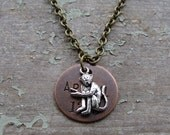 CLEARANCE! Mixed Metal Charm Necklace Artful Monkey