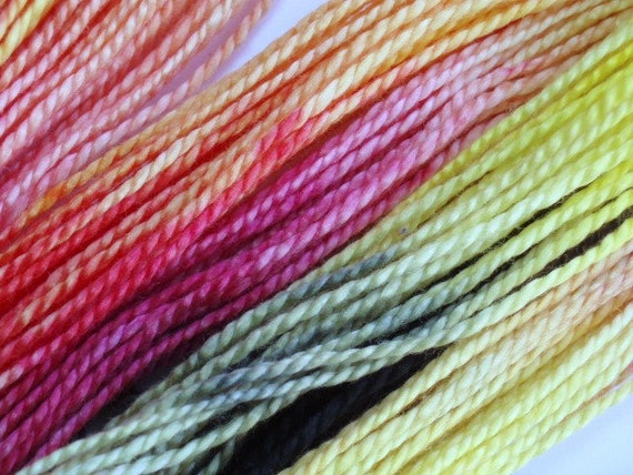 Solar Flare Hand Dyed Perle Cotton Size 5