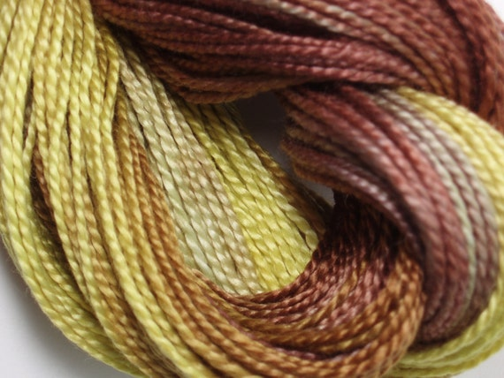 Black Eyed Susan Hand Dyed Perle Cotton Size 5