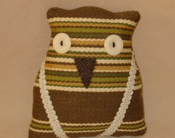 Brown and Green Striped Owl
