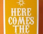 Here Comes The Sun  Mini Art Print 4 x 6 Inches 10 x 15 cm The Beatles