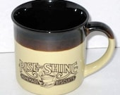 1989 Hardee's RISE AND & SHINE Homemade Biscuits Mug Cup