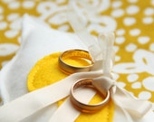 Wedding Ring pillow Love bird in your favourite color with name and date (bearer)