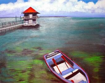 Boat House at Biscayne Bay Florida