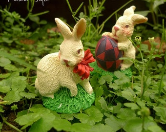Reminiscence Resin a pair of Rabbit