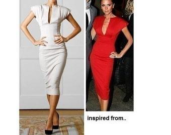 gorgeous new look pencil dress boning body custom made