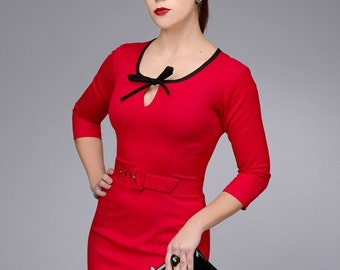BELLA rockabilly vintage inspired dress 40s 50s custom made