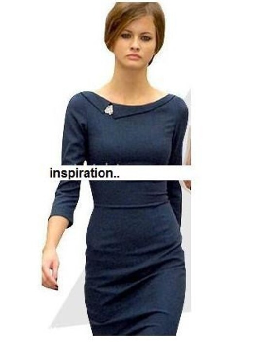 headmistress pencil shape vintage dress custom made all sizes