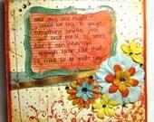 Twilight Inspired Lovey - 6X6 Handmade Card