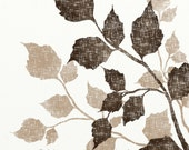 Birch Tree Leaves 8 x 10 Art Print, Nature Print, Brown Wall Decor, Vintage Style Art, Leaf, Earth Tones - NaturesHeavenlyArt