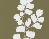 Botanical Wall Art, 8 x 10 Print, Green Fern Leaf Custom Art Print, Modern Home Decor, Nature Silhouette
