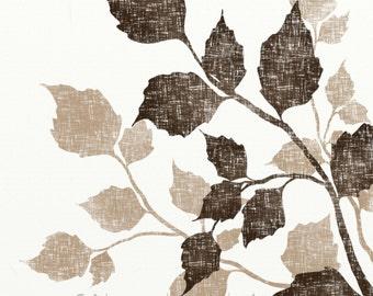 Birch Tree Leaf Art, 8 x 10 Earth Tone Brown Wall Decor, Nature Print, Tree Wall Art Print for Home Decor (11)