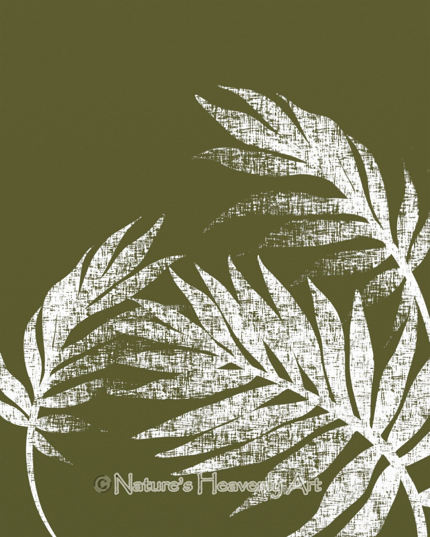 Dark green tropical wall art beach house decor 8 x 10 palm zoom amipublicfo Choice Image