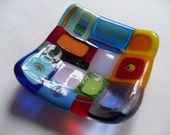 Colorful Funky Mini Glass fused dish