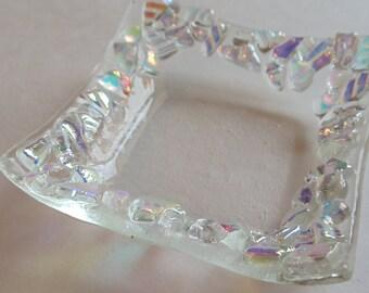 Dichroic Fused glass mini dish