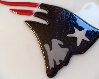 New England Patriots Fused glass dish made to order