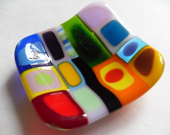 Colorful Funky Mini Glass fused dish