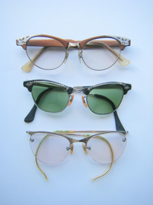 Vintage Eyeglass Frames Etsy : Vintage Eyeglasses by vintageinteriors on Etsy