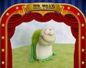 Mr. Toad (frog finger puppet)