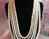 Custom 5 Strand Bridal Necklace For colz87 only
