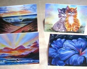 Art Print Greeting Cards 4-Pack Set - FREE SHIPPING