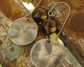 SALE! Smoky Brown Quartz Crystal and Rustic Silver Earrings - Harmony Earrings - SALE - were 104.00 NOW 72.00!