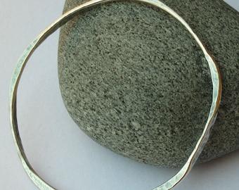 Sterling Silver Bangle - Hammered Bracelet - Silver Bracelet - Dainty Bracelet - Oxidized Silver - Annabel's Bracelet - SALE WAS 189 NOW 130