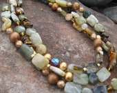 Fancy Jade, long or short necklace or chunky bracelet wrap
