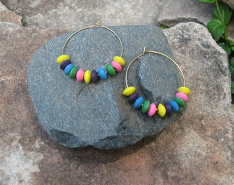 SALE: Rainbow, earrings.