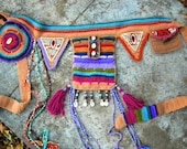 Majestic Earth-Tribal Hip Pouch/  Utility belt