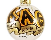 Very Small Handpainted Kappa Alpha Theta Ornament