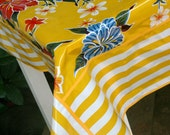Summer Time is here OilCloth Tablecloth Custom to make your heart a happy one Medium