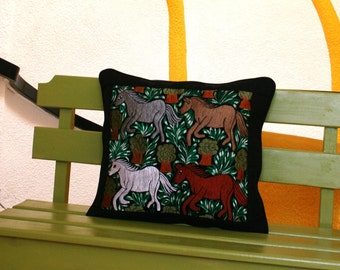 Was 109 now on clearance Upcycled Chiapas Embroidered Ranch Horse Pillow Sham Ready To Ship
