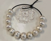 HUGE ringed baroque focal pearls - large holes