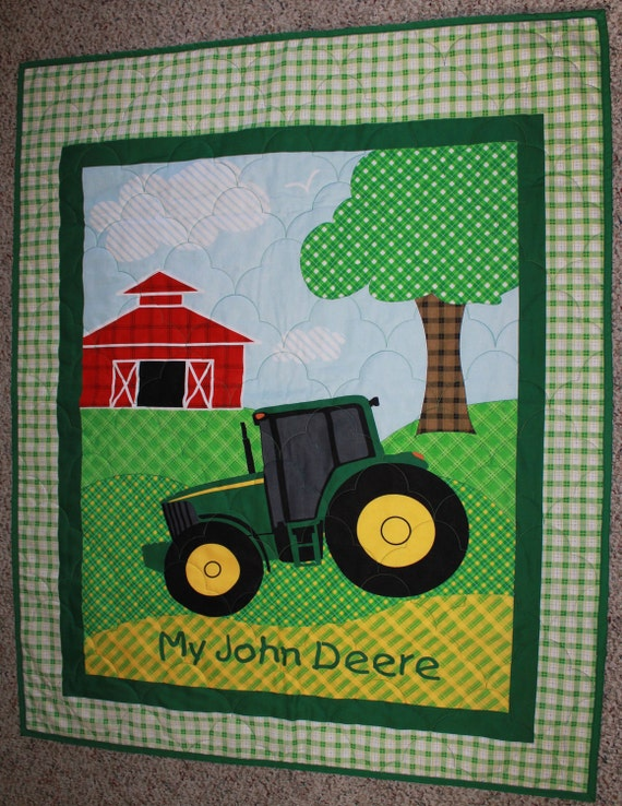 John Deere Tractor Quilt for crib/lap/wall