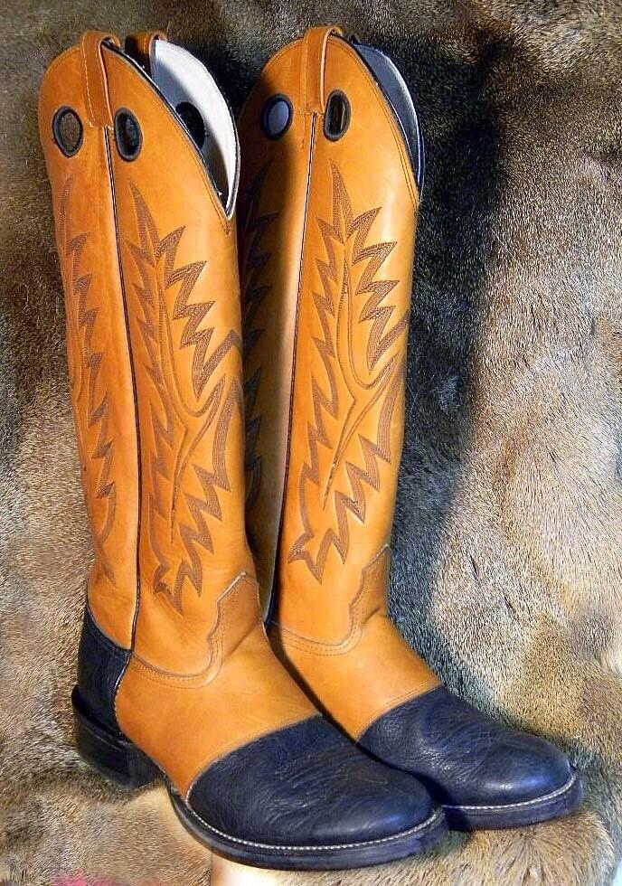Nokona Buckaroo Style 10 Half D Western Boots Beautiful
