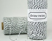 Divine Twine - 3 yards - Black / White
