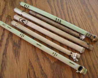 Wooden Bamboo Mate Bombilla Straws Tea Strainer Bomba