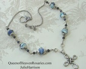 Cross Necklace-Crystal w/Pewter