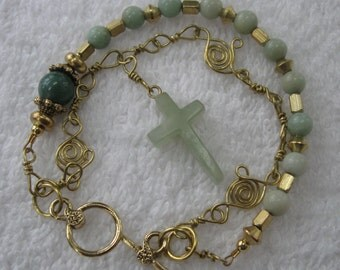 Rosary Bracelet wire wrapped