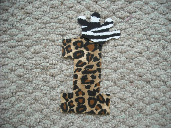 NO,1 Cheeta  Fabric iron on applique   Free Shipping U.S.A.