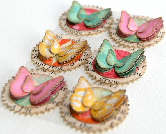 Multi-colour Butterflies Handmade Stickers