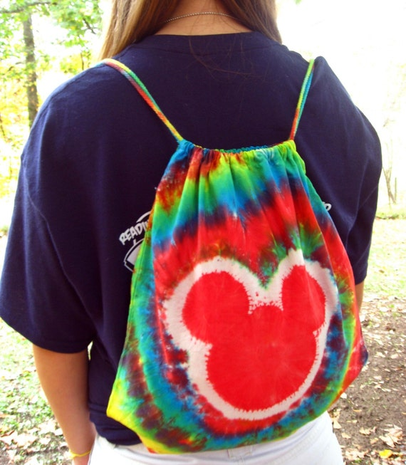 Tie Dye Drawstring Youth/Teen/Adults Backpacks 100% Organic Cotton