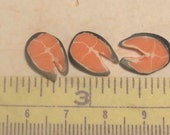 12th scale dollhouse miniature salmon steak