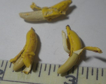 1/12th scale partially peeled banana